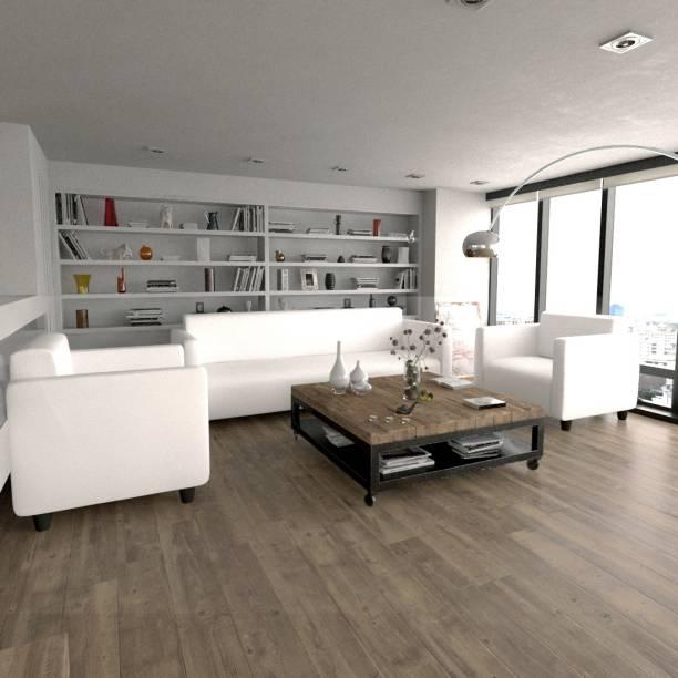 Sekar Lifestyle Box Series Leatherette 3 + 1 + 1 White Sofa Set