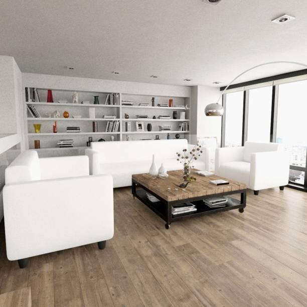 Sekar Lifestyle Box Series Leatherette 3 + 2 + 1 White Sofa Set