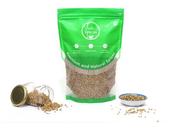 justspices Premium Coriander Seeds Whole (Saboot Dhaniya, Saboot Dhana) 100% Pure and Natural