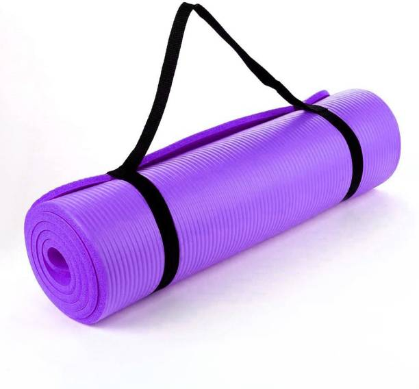 Fitness Mantra Extra Thick , Anti Skid Yoga , Exercise & Gym Mat with Carrying Strap Purple 6 mm Yoga Mat