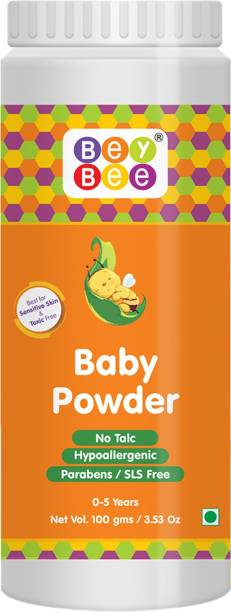 BeyBee Natural Hypoallergenic, Parabens, Talc and SLS Free Dusting Powder for Babies