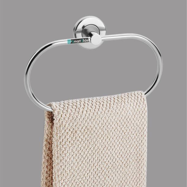 SMART SLIDE Stainless Steel Towel Ring/Napkin Ring/Bathroom Towel Holder/Towel Hanger with Nickel Chrome Finish steel Towel Holder