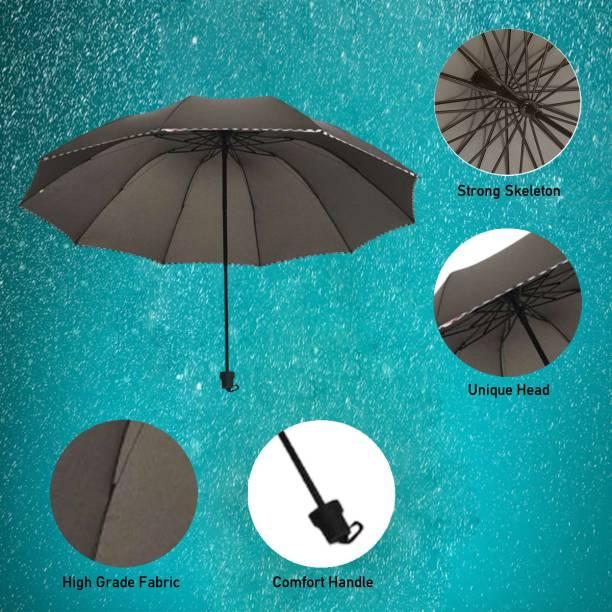 KEKEMI 3 Fold Plain Umbrella