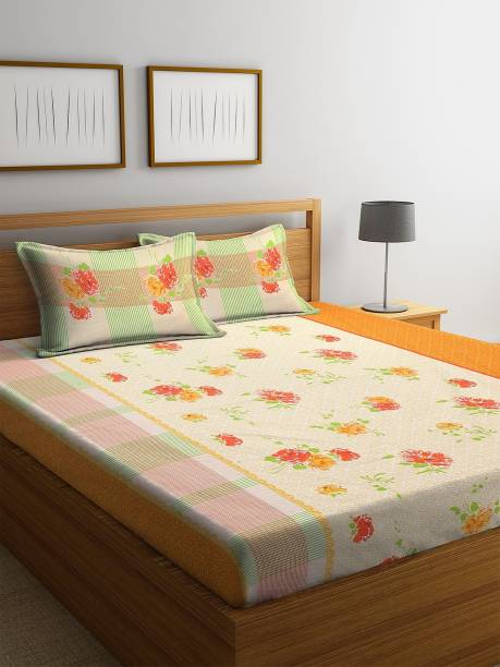 Bombay Dyeing 160 TC Cotton Double Printed Bedsheet
