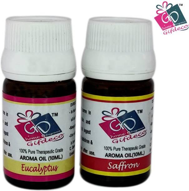 GIFDECO EUCALYPTUS, SAFFRON Aroma Oil, Refill