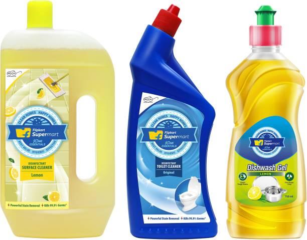 Flipkart Supermart Home Essentials Dishwash Gel, Disinfectant Surface and Toilet Cleaner