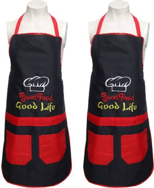 BHD Creations Cotton Home Use Apron - Free Size