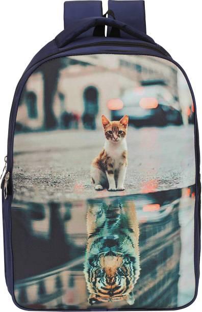 SASSIE 3-D Print Laptop Backpack Waterproof School Bag