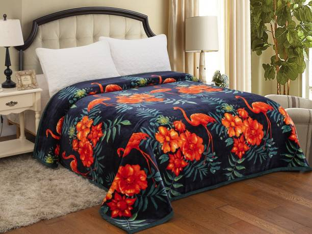 Signature Animal Double Coral Blanket