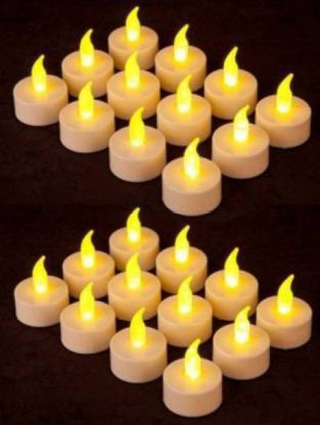 CLOUD VILLA Led Candles for Diwali Decoration| New Year Decoration | Birthday Decoration | Precious's Function Battery Operated Tealight Candles Decorative Lights for Home and Wall Lighting Décor Candle Set of 24 Candle