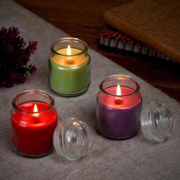 Flipkart SmartBuy Rose, Lavender & Green Apple Jar Candle