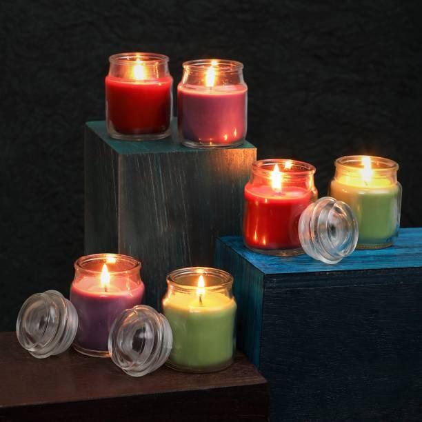 Flipkart SmartBuy Rose, Lavender & Green Apple Jar Candle