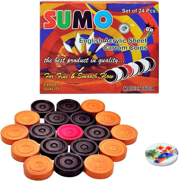 Writzo Wooden Coins Carrom Pawns