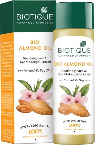 BIOTIQUE Bio Almond Oil Soothing Face & Eye Makeup Cleanser 190Ml
