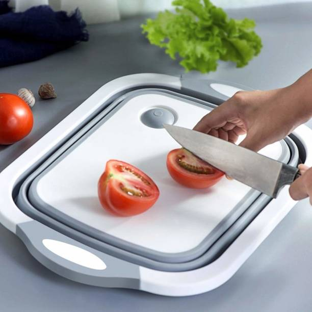 NITLOK Cutting Chopping Board/Washing Bowl,Fruit Vegetable Basket (Multipurpose)(Random Color) (3 in 1 Chopping Board) Plastic Cutting Board