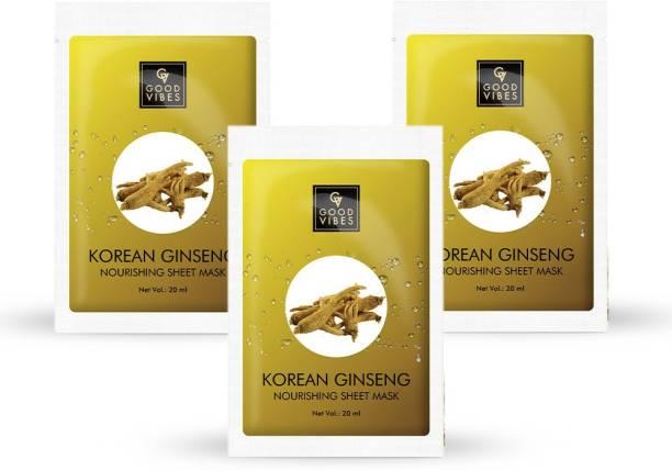 GOOD VIBES Nourishing Sheet Mask - Korean Ginseng