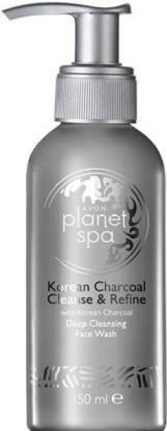 AVON Planet Spa Korean Charcoal Cleanse & Refine Deep Cleansing  (150 ml) Face Wash