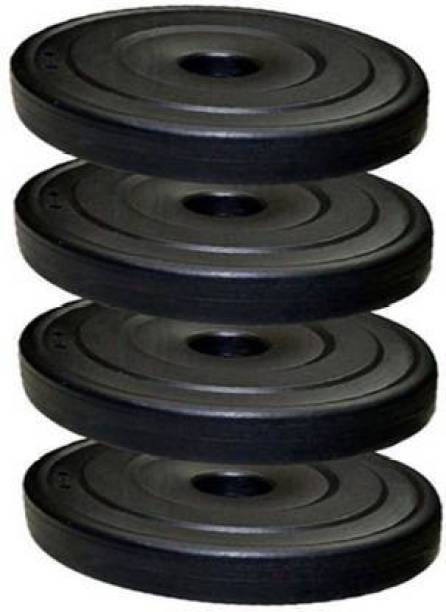 Fit World 20KG WEIGHT PLATES PVC COATED 4PIECE PLATES EACH PLATE 5KG (5KG* 4PIECE =20KG) Black Weight Plate