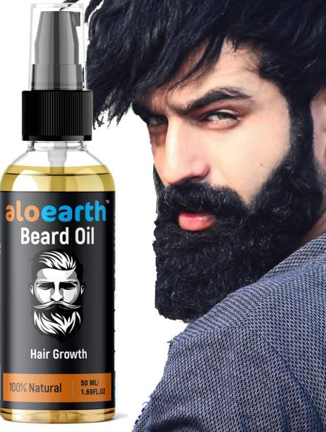 Aloearth Advanced Beard Growth Oil for Men - (Almond & Thyme) for Beard Growth - hair oil Hair Oil (50 ml) Hair Oil