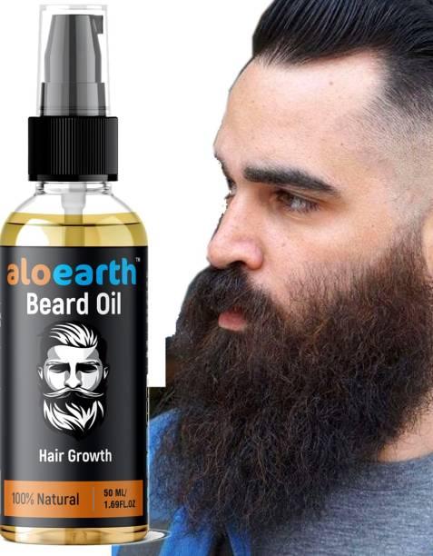 Aloearth Beard Hair Growth Oil - Almond and Thyme Hair Oil (50 ml) Hair Oil