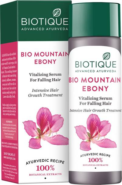 BIOTIQUE Bio Mountain Ebony Vitalizing Serum For Falling Hair 190Ml