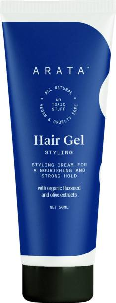 ARATA s Natural Hair Gel for Studio Styling, Shaping, Strong Hold and Nourishment Hair Gel