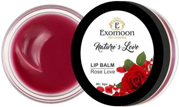 EXOMOON SKIN ESSENTIAL NATURE'S LOVE ROSE LOVE LIP BALM FOR LIP MOISTURIZING ,ALL SKIN TYPE ROSE