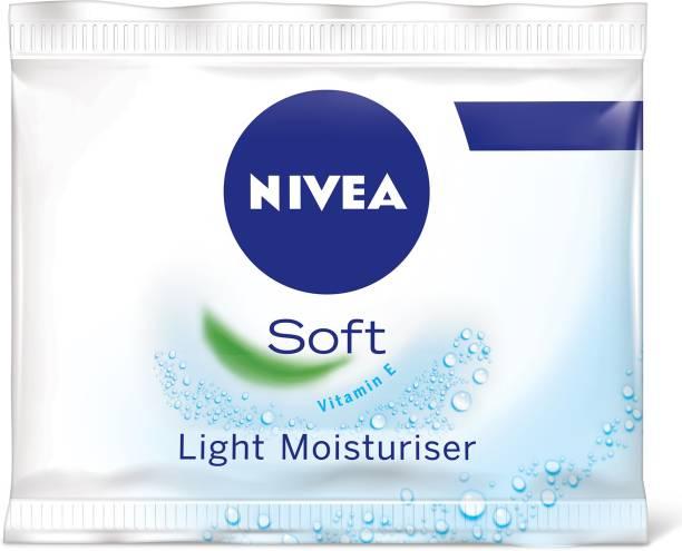 NIVEA Soft Light Moisturizer for Face, Hand & Body, Non-Sticky Cream with Vitamin E & Jojoba Oil