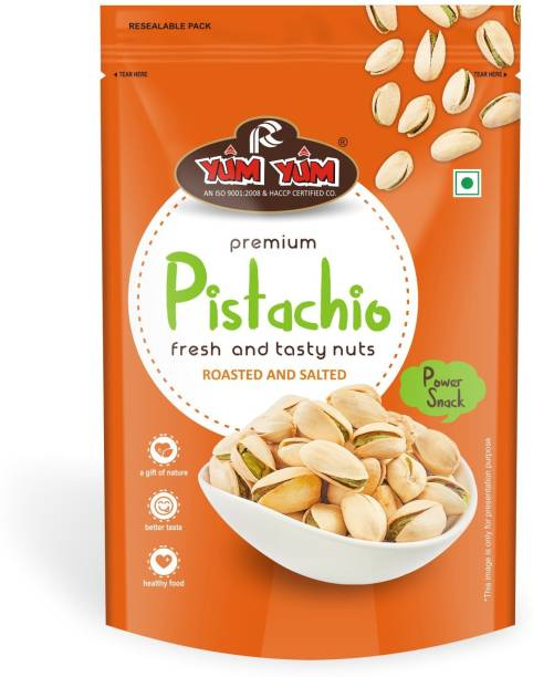 YUM YUM Roasted & Salted Pista (Pistachio Nut) - 250gm (Pack of 1) Pistachios