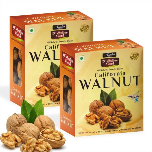 D NATURE FRESH 100% Natural & Organic California Inshell Walnut (Akhrot) – 1000gm Walnuts
