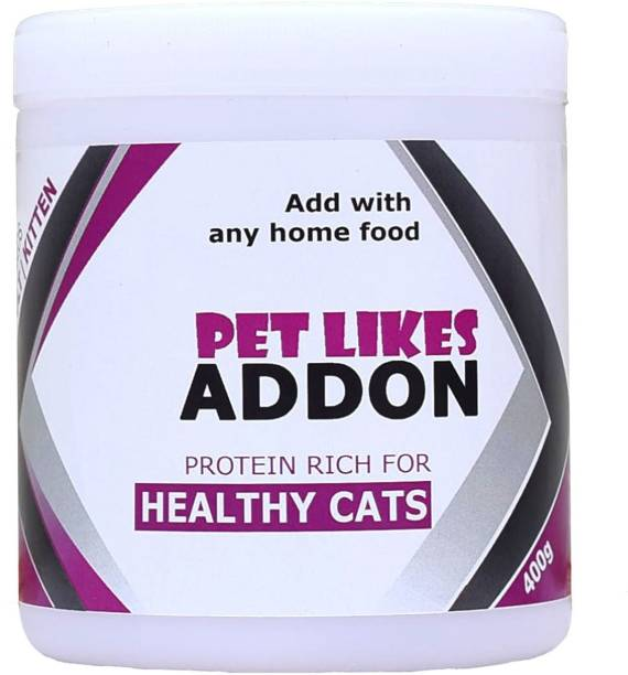 PET LIKES ADDON Protein for Cats(3 Week Weight Gain) Chicken, Sea Food 0.4 kg Dry Adult, Young Cat Food