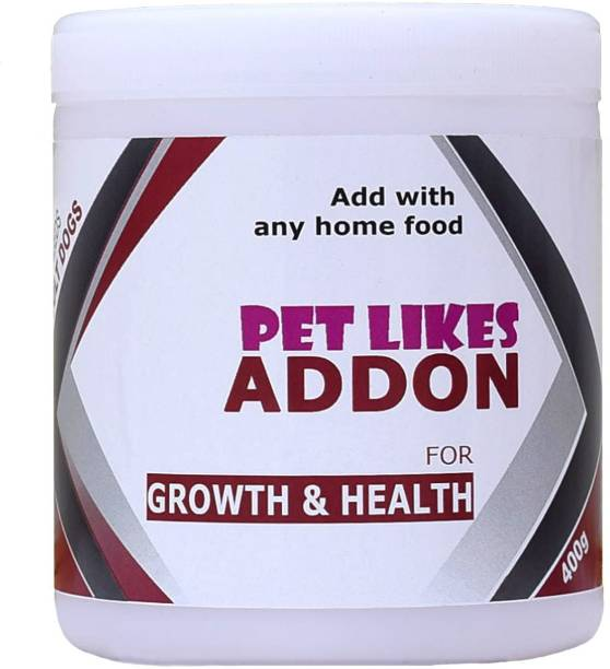 PET LIKES ADDON for Growth & Health(Premium Maintenance in Adults) Chicken, Sea Food 0.4 kg Dry Adult, Senior Dog Food