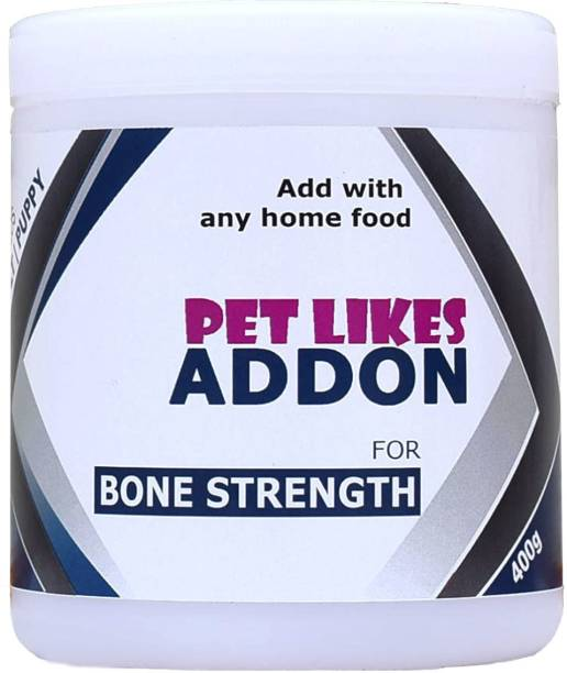 PET LIKES ADDON for Bone Strength(Hip & Joint Improvement) Chicken, Sea Food 0.4 kg Dry Adult, Young Dog Food