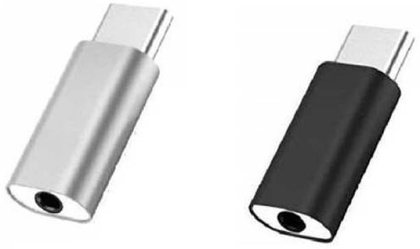 SOARMART Multicolor Multicolor SET OF 2 TYPE C TO 3.5MM EARPHONE/HEADPHONE JACK AUDIO CABLE Phone Converter (USB C) Phone Converter