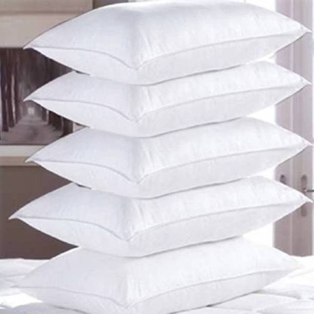 Merry Fashion Polyester Fibre Solid Sleeping Pillow Pack of 5