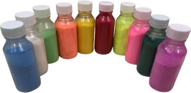 Trishays Shop4All Pack of 10 Rangoli Powder