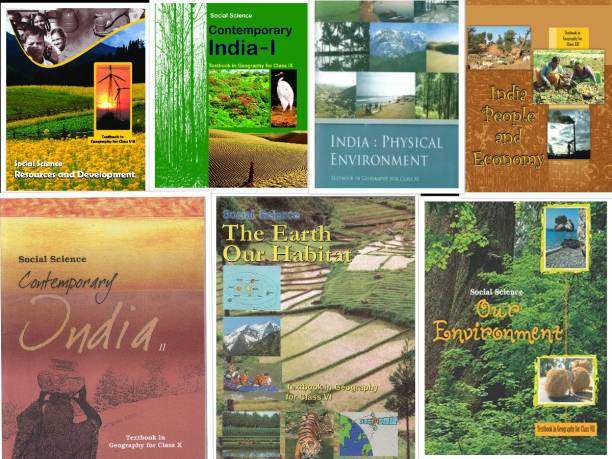 Geography NCERT Book For Class 6-12 - NCERT (Set Of 7 Books) In English Medium