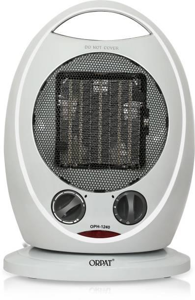 ORPAT OPH-1240 Climate Control PTC Heaters 1200W/1800W Grey Fan Room Heater