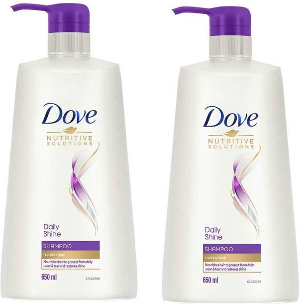 DOVE Daily Shine Shampoo, Man & Woman, 2 * 650 ml
