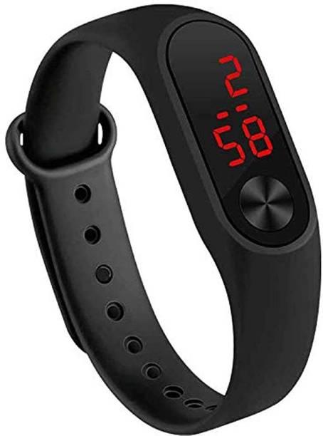 Moana M2 Black LED Band Unisex Watch For Kids