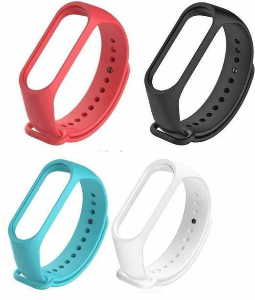 PORTLIX Sports Soft Silicone Durable TPU Wristband Lightweight Strap For (Watch Not Included) Smart Band Strap-4 Combo Smart Band Strap