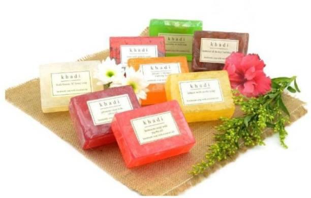 Khadi Herbal Natural Handmade traditional Soap (8 x 125 g)