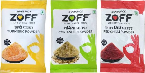 zoff Turmeric, Coriander, Red Chilli Powder