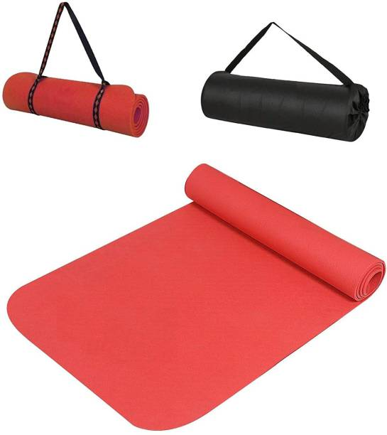 Yogarise Yoga Mat for Gym Workout and Flooring Exercise for Men & Women with Bag and Strap Purple 6 mm Yoga Mat