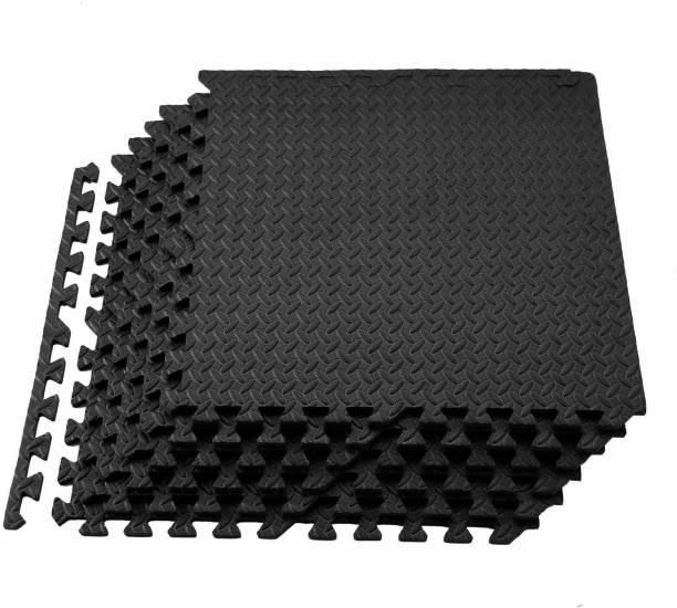 IRIS Interlocking Gym EVA Foam Floor Mat Tiles (160 sq. ft.) Black 10 mm Exercise & Gym Mat