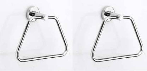 APM Stainless Steel Towel Ring/Towel Stand for Bathroom pack of 2 triangle crome finish steel Towel Holder