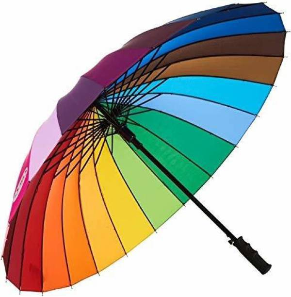 MOONZA Rainbow Multi-Color Rainbow Umbrella for Girls | Rainbow Umbrella for Men | Rainbow Umbrella Big Size Umbrella