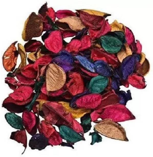 kraft moment Natural Home Decor Multi Color Potpourri Leaves for Indoor Outdoor Decoration, Showpiece, Vase Fillers (100 gm Pack) Multicolor Wild Flower Artificial Flower Vase Filler