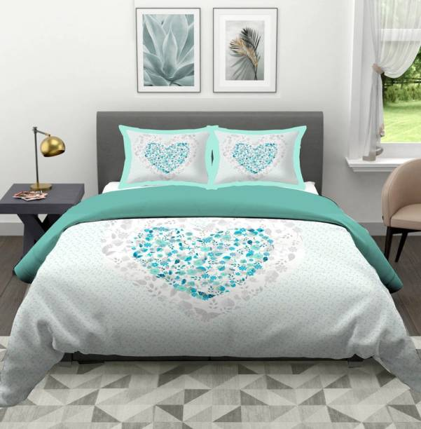 Indras 104 TC Cotton Double Printed Bedsheet