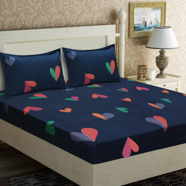 Flipkart SmartBuy 140 TC Microfiber Double Abstract Bedsheet